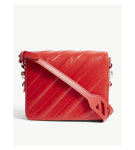 OFF-WHITE C/O VIRGIL ABLOH Quilted leather shoulder bag (Red