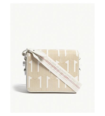 OFF-WHITE C/O VIRGIL ABLOH Geometric leather cross-body bag (White