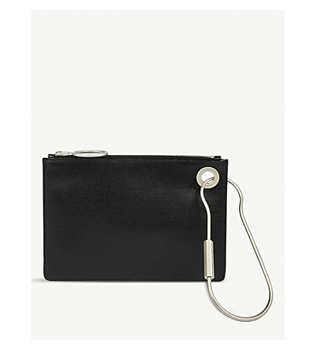 OFF-WHITE C/O VIRGIL ABLOH B leather pouch (Black
