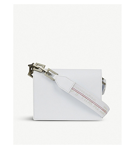 OFF-WHITE C/O VIRGIL ABLOH Mini Flap leather shoulder bag (White