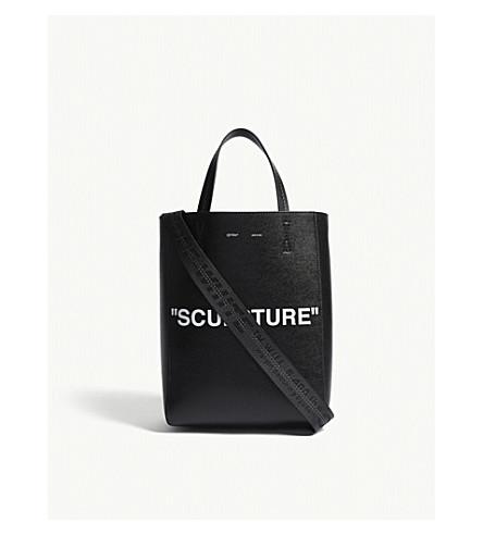 OFF-WHITE C/O VIRGIL ABLOH Sculpture medium leather tote (Black