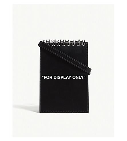 "OFF-WHITE C/O VIRGIL ABLOH ""For Display Only"" notepad bag (Black"