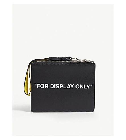 OFF-WHITE C/O VIRGIL ABLOH Signature Saffiano leather double pouch (Black