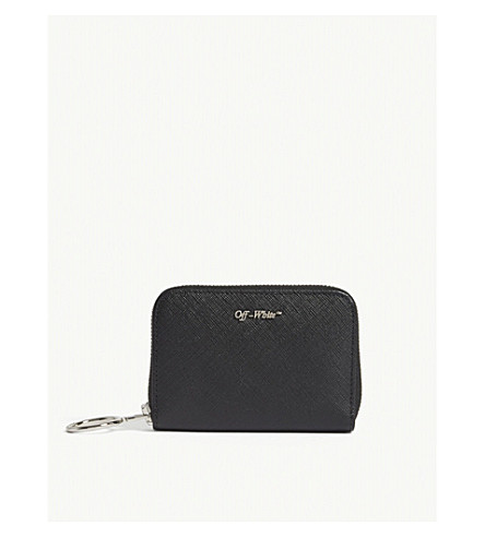 OFF-WHITE C/O VIRGIL ABLOH Logo-detail zip-around leather wallet (Black