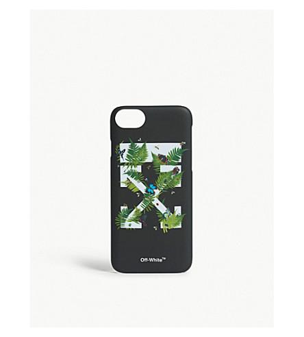 OFF-WHITE C/O VIRGIL ABLOH Fern logo iPhone 7 case (Black+green