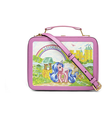 MOSCHINO My Little Pony leather cross-body bag (Multicolor