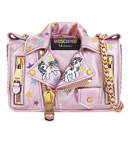MOSCHINO My Little Pony leather cross-body bag (Pink