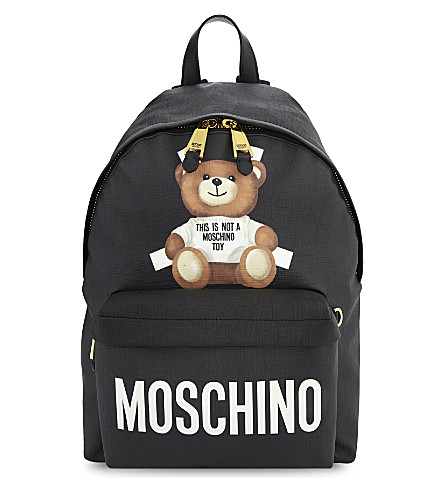 MOSCHINO Toy bear backpack (Black