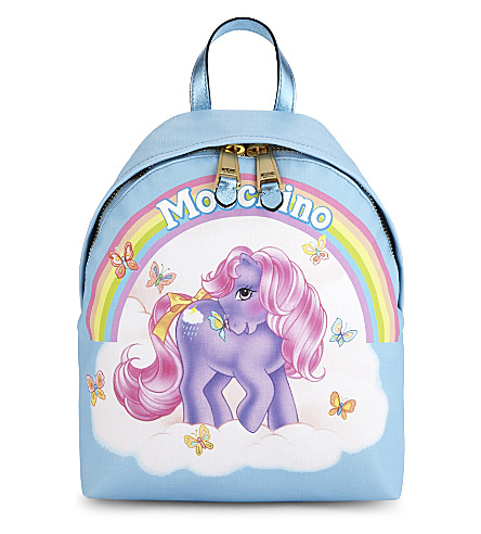 MOSCHINO My Little Pony leather backpack (Light+blue
