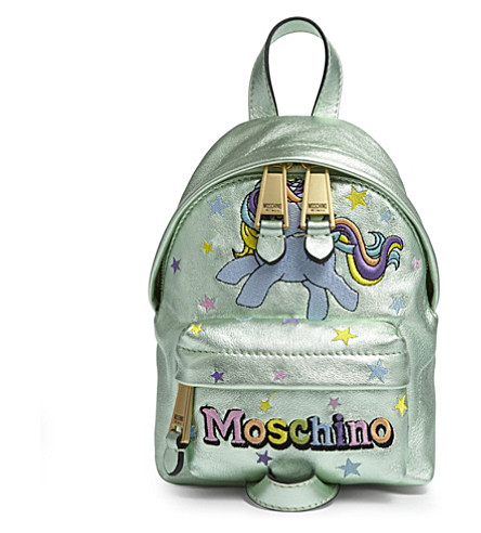 MOSCHINO My Little Pony leather backpack (Green