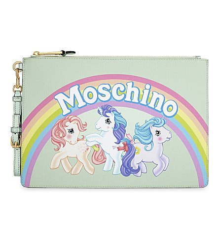 MOSCHINO My Little Pony leather clutch (Green