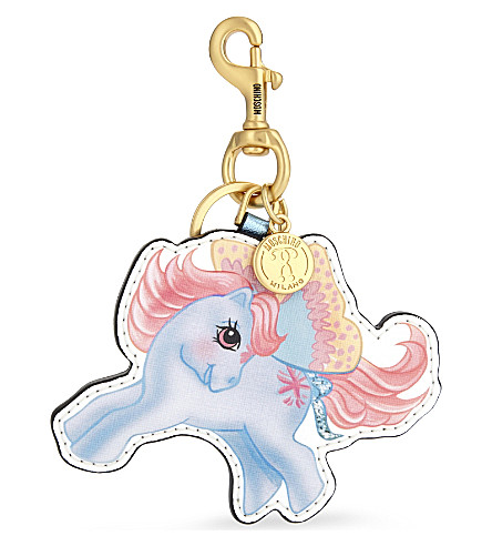 MOSCHINO My Little Pony leather keyring (Multicolor