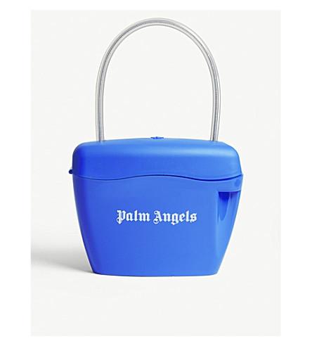 PALM ANGELS Padlock bag (Blue+white