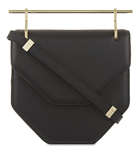 M2MALLETIER Amor fati leather clutch (Black