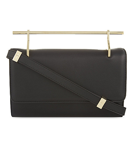 M2MALLETIER Fabricca long leather clutch (Black