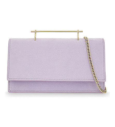 M2MALLETIER Alexia suede shoulder bag (Lilac