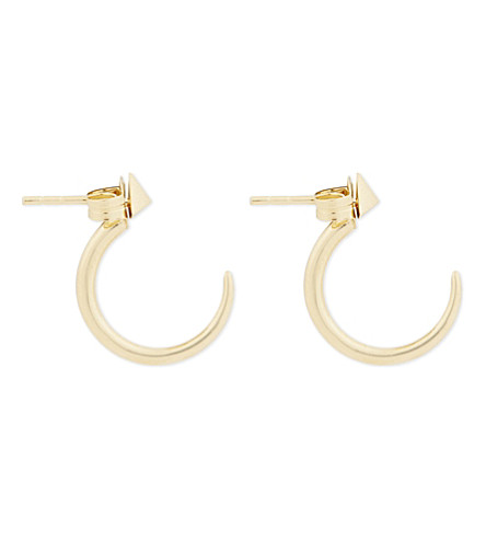 MISSOMA LTD Archer 18 carat gold vermeil mini hoop earrings (Gold+vermeil