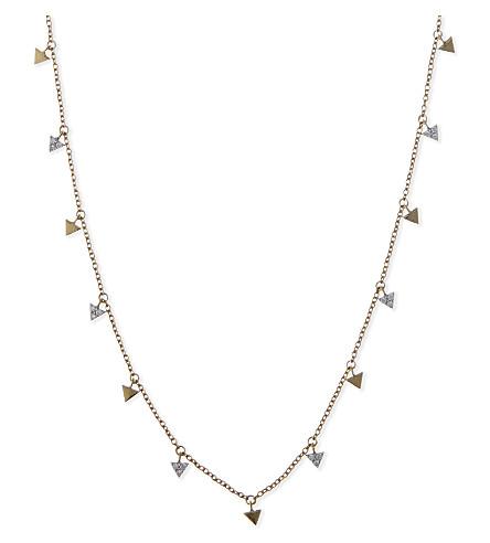 MISSOMA LTD Nexus arrowhead 18ct gold necklace (Gold+vermeil