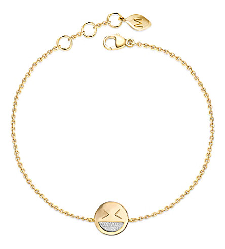 MISSOMA LTD Funny Face 18k gold bracelet (Gold/diamonds