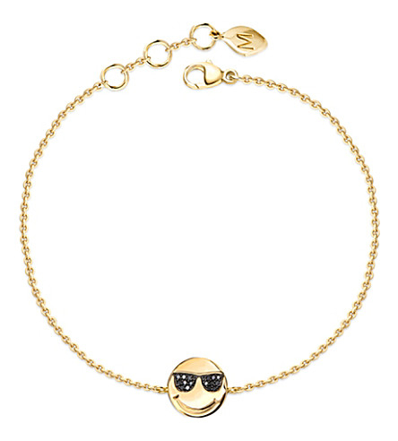 MISSOMA LTD Sunglasses face 18ct yellow-gold vermeil and diamond pave bracelet (Gold/diamonds