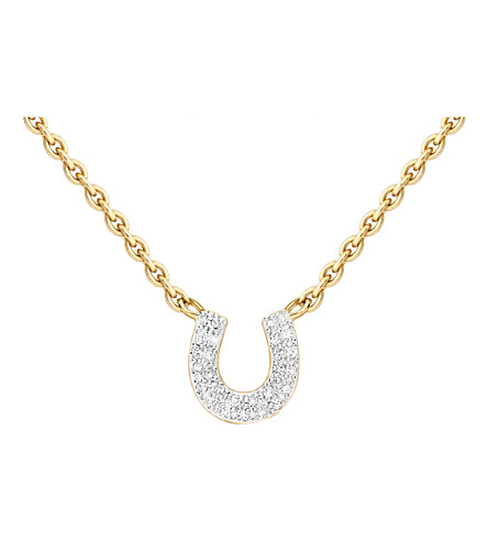 MISSOMA LTD Horseshoe 18ct gold vermeil and diamond necklace (Gold/diamonds