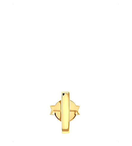 MISSOMA LTD 18ct gold vermeil gold single bar stud earring (Gold+vermeil