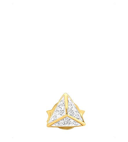 MISSOMA LTD 18ct gold vermeil and pavé zirconia stud earring (Gold vermeil