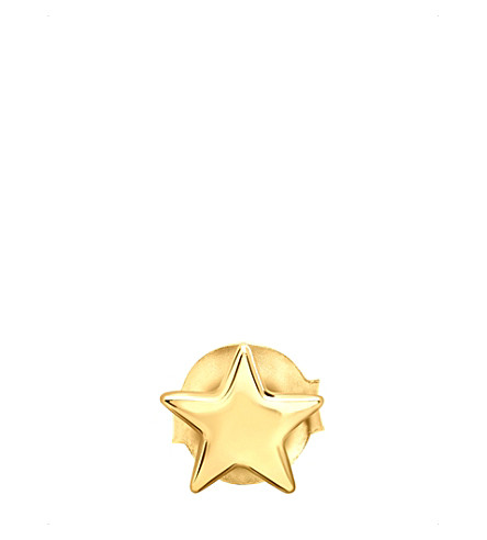MISSOMA LTD Star 18ct gold vermeil single stud earring (Gold+vermeil