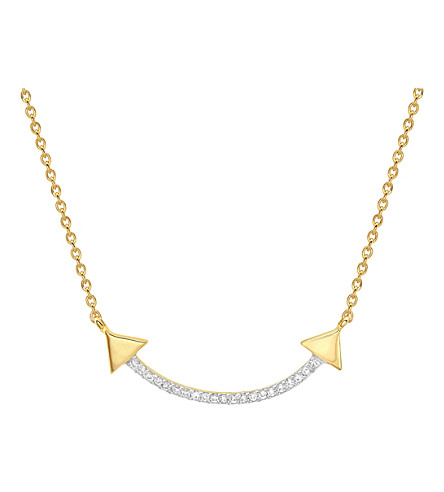 MISSOMA LTD Nexus double arrow 18ct gold vermeil necklace (Gold+vermeil