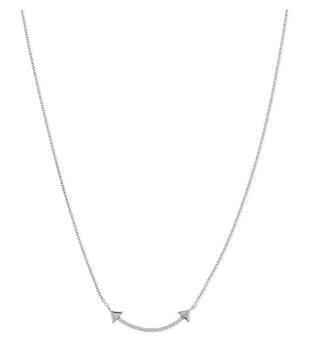 MISSOMA LTD Nexus double arrow silver necklace (Sterling+silver