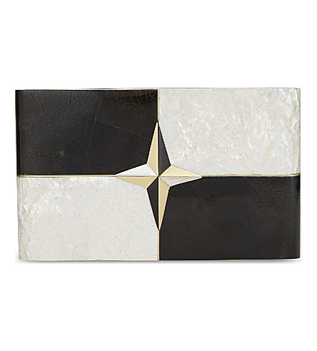NATHALIE TRAD Dimitri clutch (Mother+of+pearl+shell
