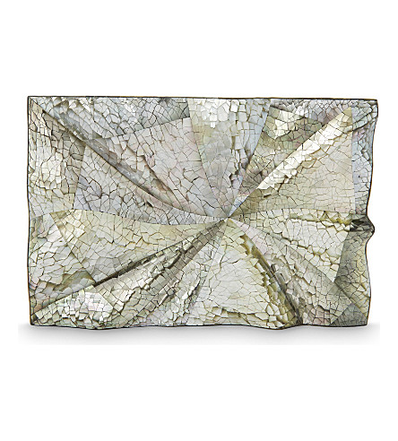 NATHALIE TRAD Dino clutch with chain (Black+lip+hayang+shell