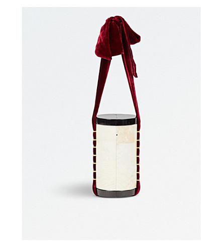 NATHALIE TRAD Edith kabibe shell cone bag (White+burg