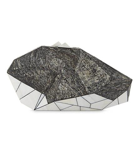 NATHALIE TRAD Polygonia Kabibe clutch bag (Kabibe+silver