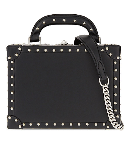 BERTONI 1949 Bertonica studded mini leather shoulder bag (Black