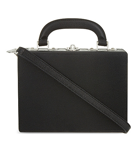 BERTONI 1949 Mini leather shoulder bag (Black