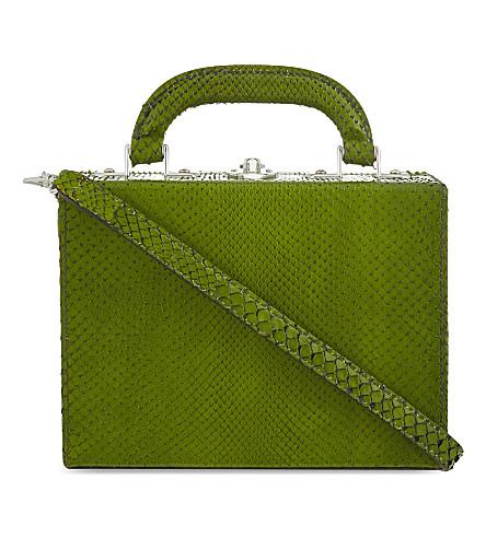 BERTONI 1949 Python mini shoulder bag (Green