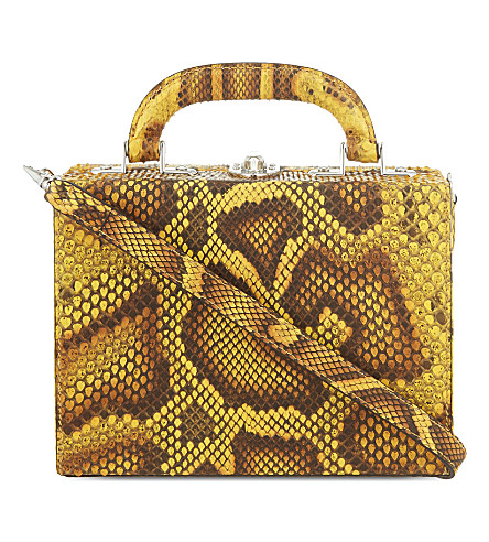 BERTONI 1949 Python mini shoulder bag (Leopard