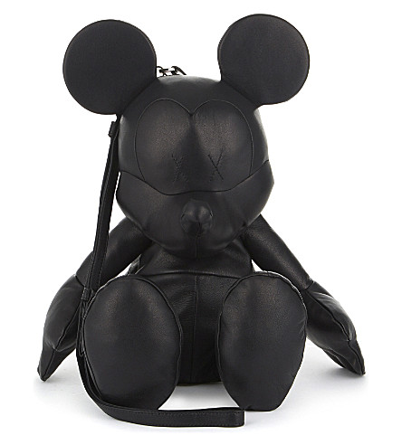 CHRISTOPHER RAEBURN Mickey mouse leather bag (Black