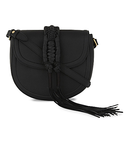 ALTUZARRA Ghianda leather cross-body bag (Black