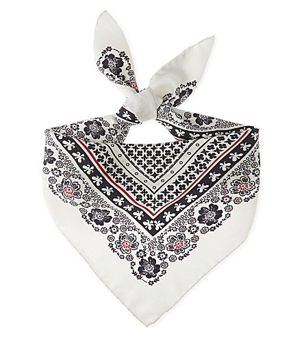 ALTUZARRA Patterned silk bandana (Sand