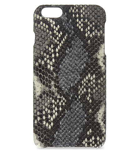 THE CASE FACTORY Python-embossed leather iPhone 6+ case (Clay