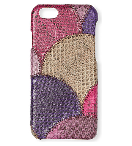 THE CASE FACTORY Water snake leather iPhone 6/6s case (Violetta