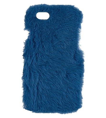 THE CASE FACTORY Goat hair iPhone 6 case (Princess blue