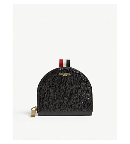 THOM BROWNE Vanity leather coin purse (Black