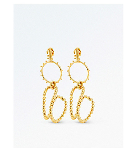 PAULA MENDOZA JEWELLERY STBC bubble drop earrings (Gold