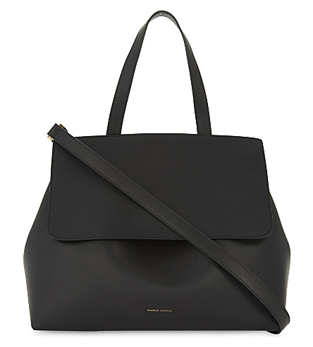 MANSUR GAVRIEL Vegetable-tanned leather lady bag (Black/flamma