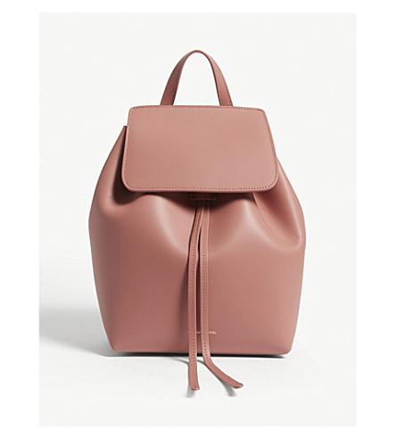 MANSUR GAVRIEL Mini leather backpack (Blush/blush