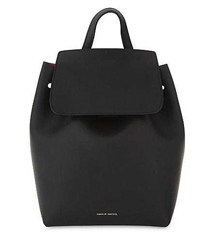 MANSUR GAVRIEL Mini leather backpack (Black/flamma