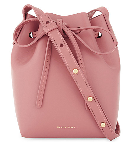 MANSUR GAVRIEL Mini Mini leather bucket bag (Blush/blush